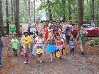 Warrensburg Travel Park & Riverfront Campground in the Adirondacks Mountains near lake george kids trick or treating