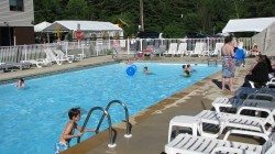 Warrensburg Travel Park and Riverfront Campground in the Adirondacks swimming pool