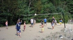 Warrensburg Travel Park and Riverfront Campground in the Adirondacks volleyball