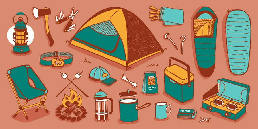 What to bring camping - checklist